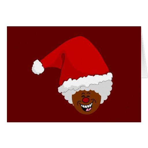Diga a Santa negro lo que usted quiere para el nav Felicitación