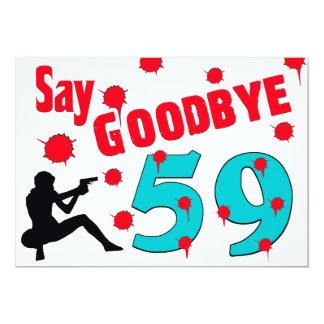 Diga adiós a la 60.a celebración del cumpleaños de invitación 12,7 x 17,8 cm