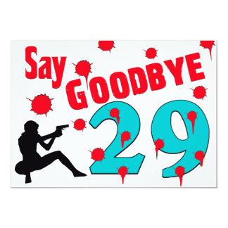 Diga adiós a la trigésima celebración del invitación 12,7 x 17,8 cm