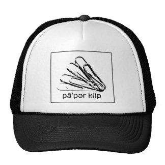 Diga el negro y el blanco del clip de papel gorra