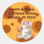 Diga el queso etiquetas redondas