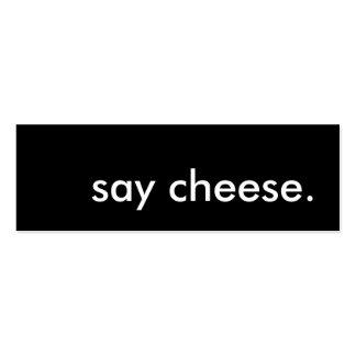 diga el queso plantillas de tarjeta de negocio