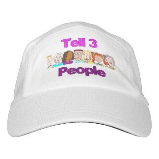 Diga la risa de la gorra de béisbol de 3 personas,