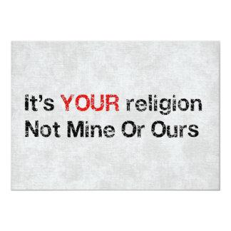 Diga no a los cultos de dios invitación 12,7 x 17,8 cm