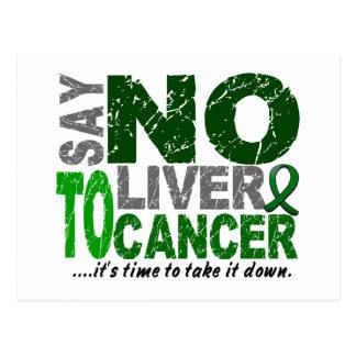 Diga NO al cáncer de hígado 1 Postal