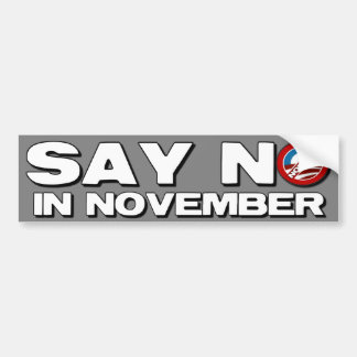 Diga no en noviembre - a Obama anti Pegatina Para Coche