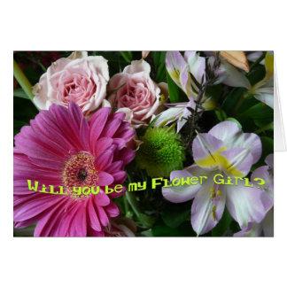 ¿Diga que usted será mi florista? - Ramo Tarjeta De Felicitación