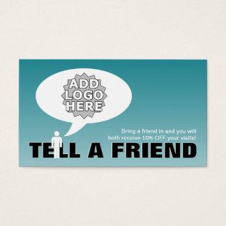 diga una remisión del amigo cómica tarjeta de negocios
