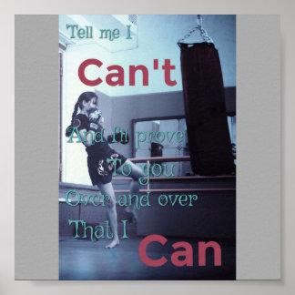 Dígame que no puedo poster de motivación póster