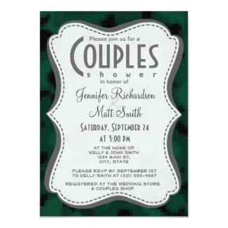 Digitaces verde oscuro Camo; Camuflaje Invitación 11,4 X 15,8 Cm