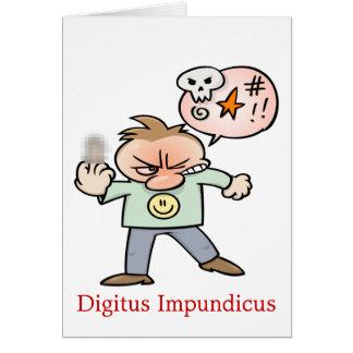 Digitus Impundicus Tarjeta De Felicitación