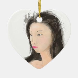 Dignificado [kanji japonés] adorno de cerámica