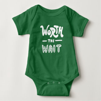 Digno de la espera body para bebé