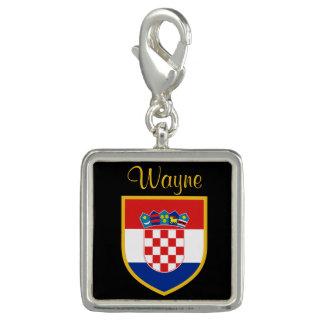 Dije Con Foto Bandera de Croacia personalizada