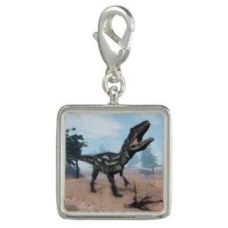 Dije Con Foto Dinosaurio del Allosaurus que ruge - 3D rinden