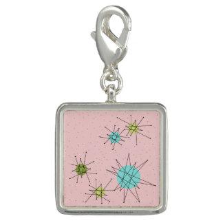 Dije Con Foto Encanto atómico icónico rosado de Starbursts