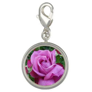 Dije Con Foto Encanto color de rosa púrpura