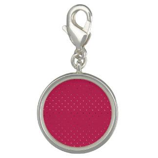 Dije Con Foto falso modelo de lunares color de rosa minúsculo