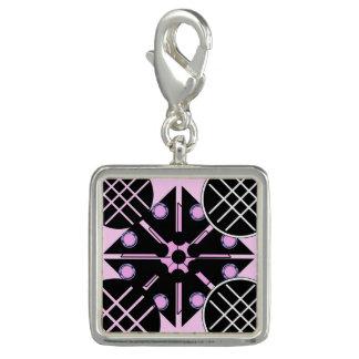 Dije Con Foto Geométrico en rosa
