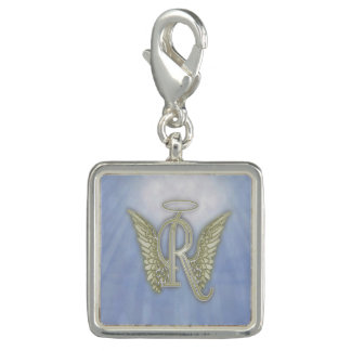 Dije Con Foto Monograma del ángel de la letra R