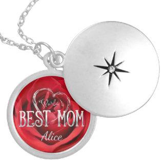 Dije El mejor rosa rojo de la mamá el | del mundo
