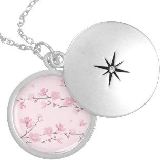Dije Flor de cerezo - Transparente-Fondo