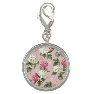 Dije Modelo inconsútil floral del Hydrangea rosado