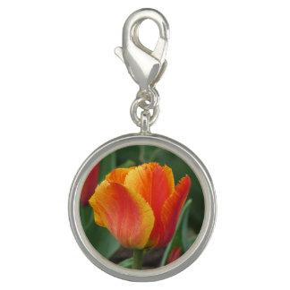 Dije Tulipán rojo y amarillo