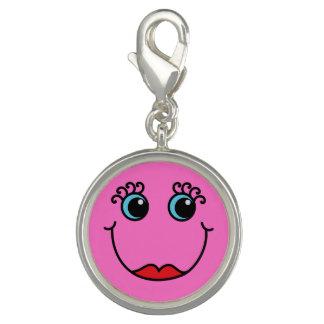 Dijes Cara de la señora rosada smiley