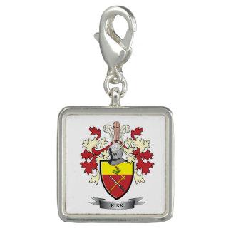 Dijes Con Foto Escudo de armas del escudo de la familia de Kirk
