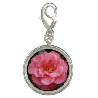 Dijes Con Foto Joyería rosada del encanto de la flor de la