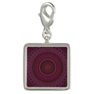 Dijes Con Foto Mandala púrpura oscura