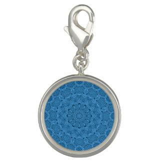 Dijes Encanto azul decorativo del modelo del vintage