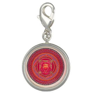 Dijes Encanto de la mandala de Chakra de la raíz