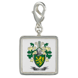 Dijes Escudo de armas del escudo de la familia de Morgan