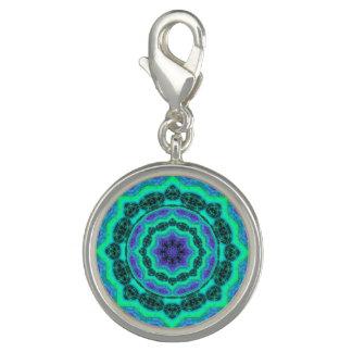 Dijes Modelo verde, púrpura y azul de la mandala