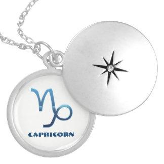 Dijes Muestras azules del zodiaco del Capricornio en
