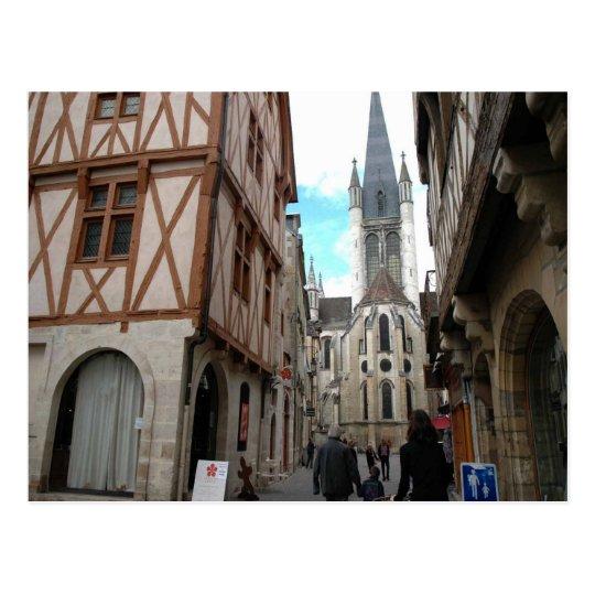 Dijon, calles estrechas postal