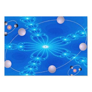 Dimensión fluorescente de los brazos invitación 12,7 x 17,8 cm