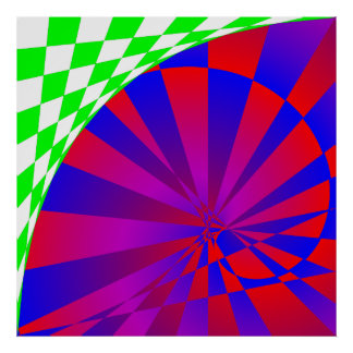 Dimensiones dobladas de Kenneth Yoncich Póster