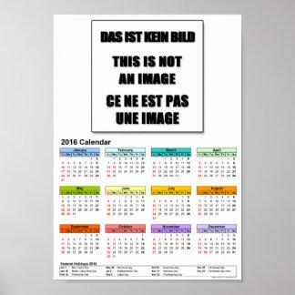 DinA4 papel de poster del valor del calendario