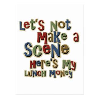 Dinero del almuerzo del matón divertido postales