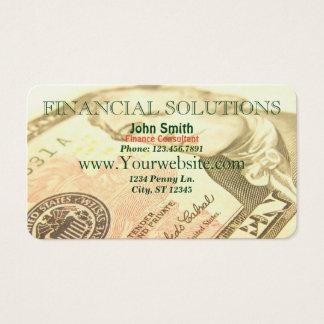 Dinero financiero de las soluciones tarjeta de negocios