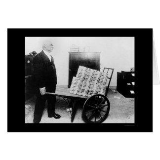 Dinero mutilado en la carretilla 1920 tarjeta de felicitación