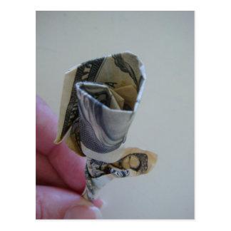 Dinero Origami subió Postal