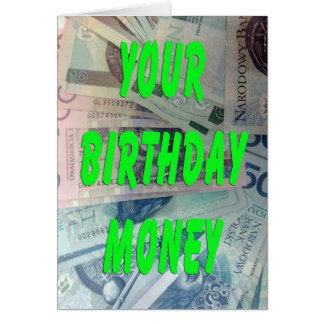 Dinero polaco del cumpleaños del loti felicitación