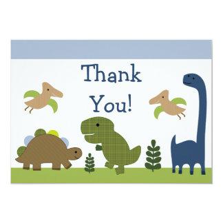 Dino/el bebé adorables de los dinosaurios le invitación 12,7 x 17,8 cm
