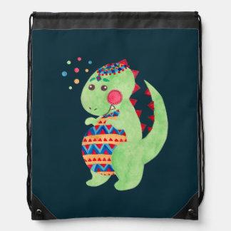Dino verde mochila