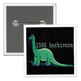 dinosaurio 100% del herbívoro chapa cuadrada