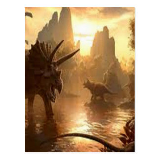 dinosaurio antiguo postal